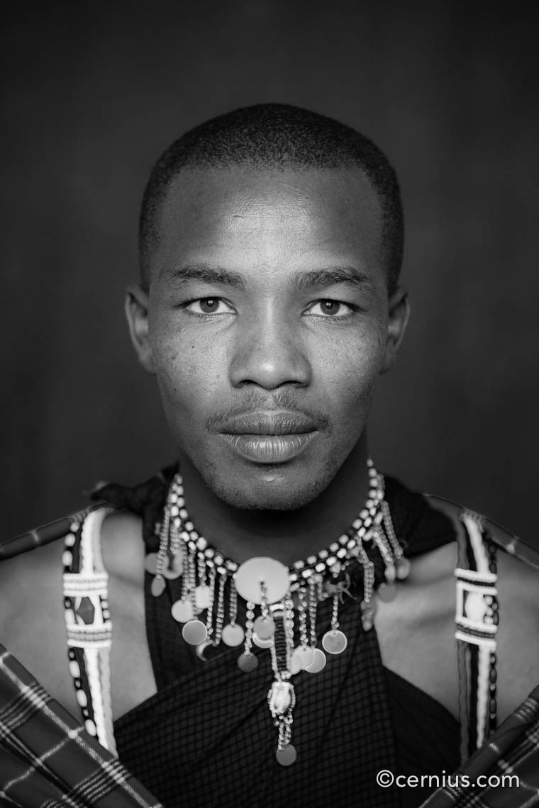 Portrait of a Masai Warrior, Kenya