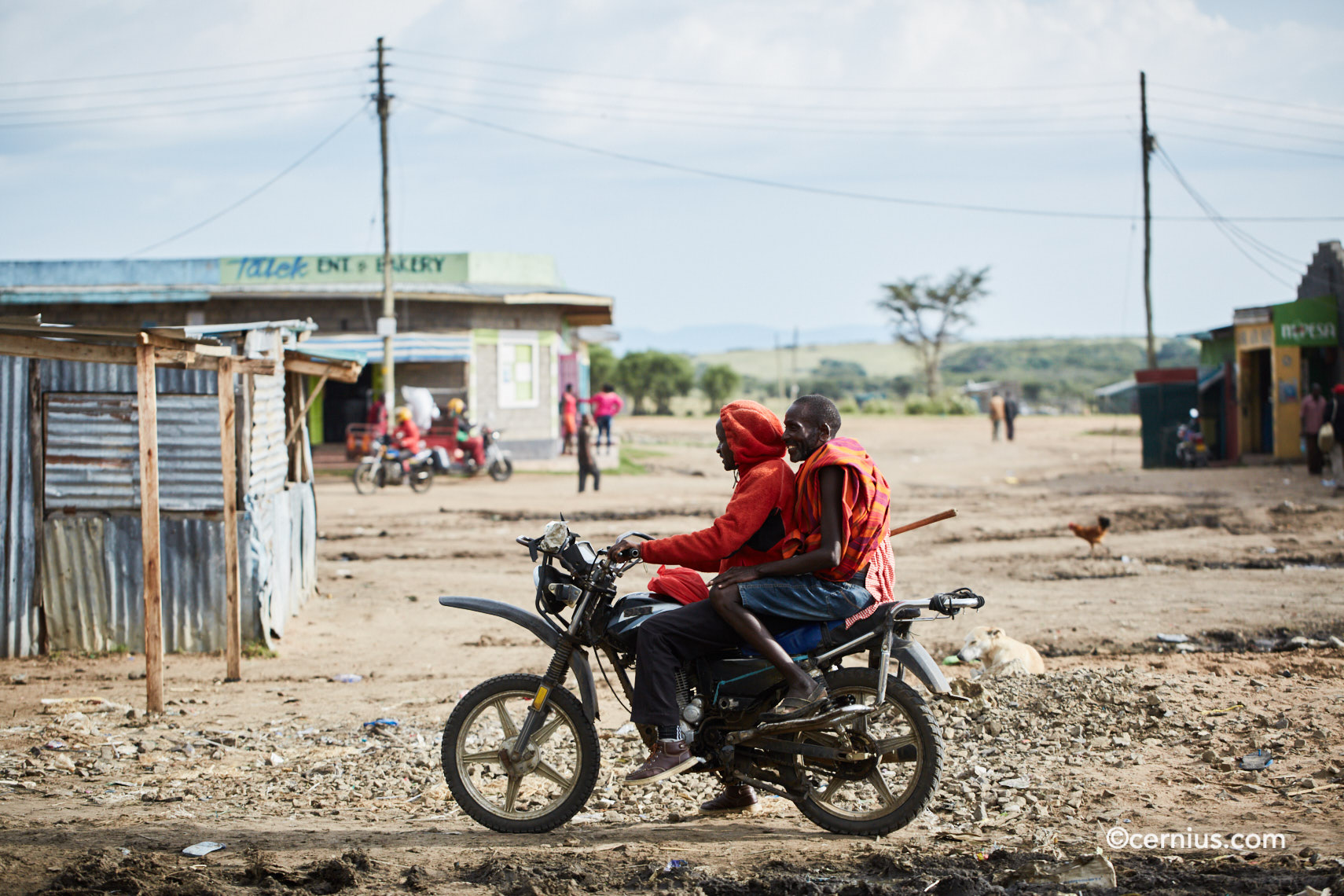Motorcycle Ride in Takek, Narok County, Kenya | Juozas Cernius