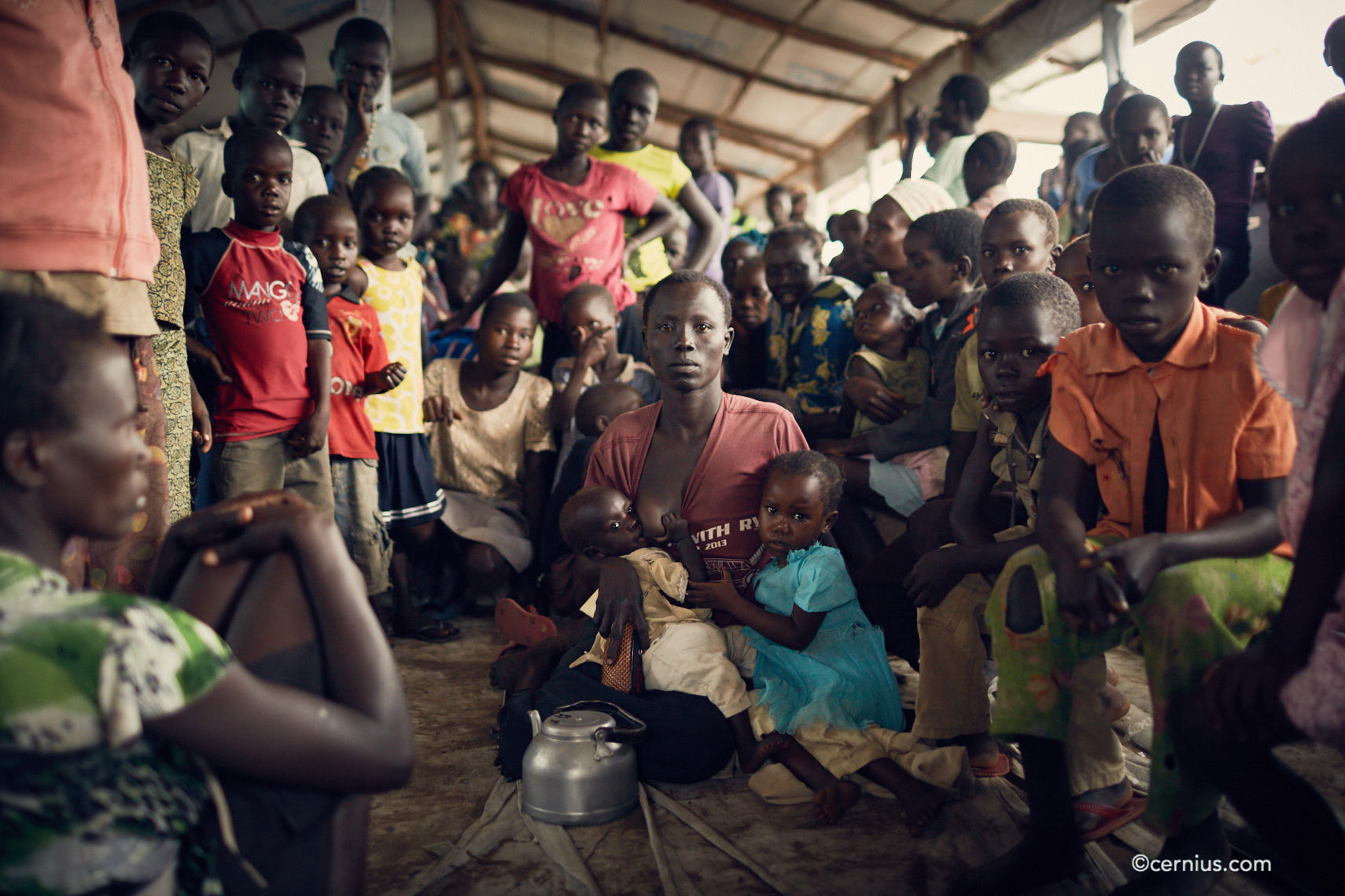 South Sudanese refugees at Uganda